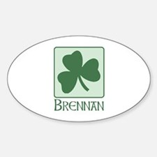 Brennan Family Oval Decal