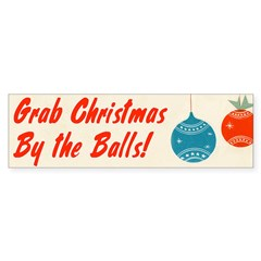 Christmas By the Balls Sticker (Bumper)
