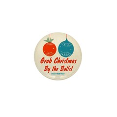 Christmas By the Balls Mini Button