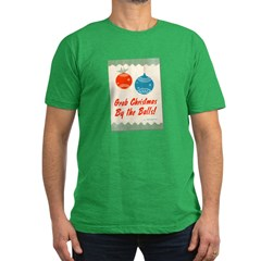 Christmas By the Balls Men's Fitted T-Shirt (dark)