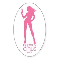 Pink Logo Oval Decal