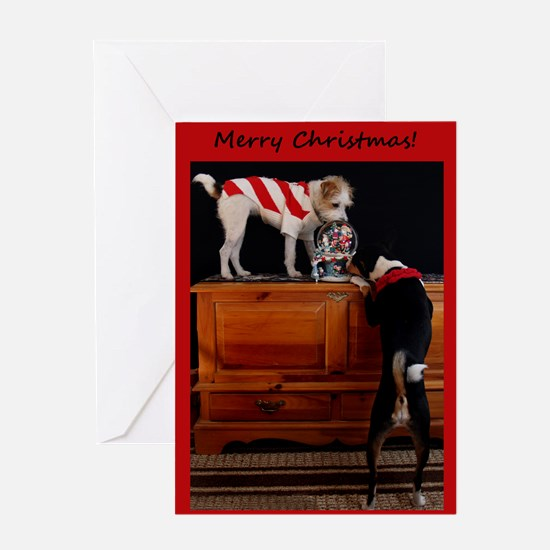 Basenji and JRT Greeting Card