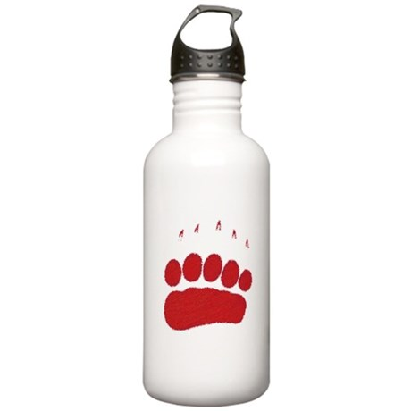 Bear Grizzly Track Stainless Water Bottle 1.0L