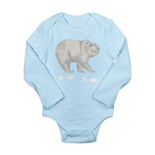 Grizzly and Tracks Long Sleeve Infant Bodysuit