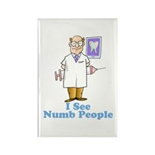 I See Numb People Rectangle Magnet
