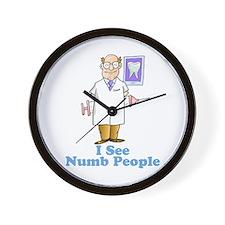 I See Numb People Wall Clock