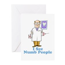 I See Numb People Greeting Cards (Pk of 20)