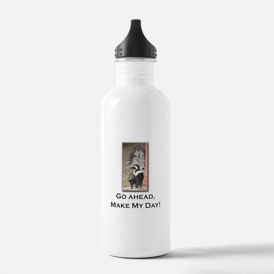 Make My Day Skunk Sports Water Bottle