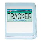 Colorado Tracker Plate baby blanket