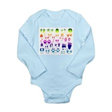 Rainbow Tracks Guide Long Sleeve Infant Bodysuit