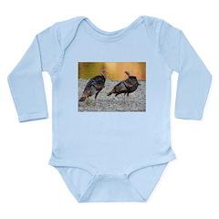 Turkeys Long Sleeve Infant Bodysuit