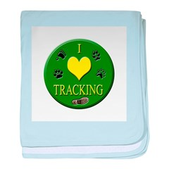 I Love Tracking baby blanket