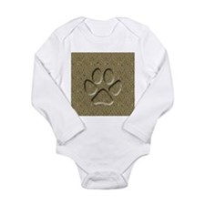 Dog Track Long Sleeve Infant Bodysuit
