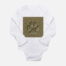 Dog Track Long Sleeve Infant Bodysuit