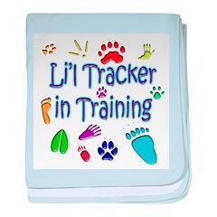 Li'l Tracker baby blanket