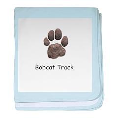 Real Bobcat Track baby blanket