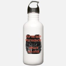 Stop the wolf massacre Water Bottle