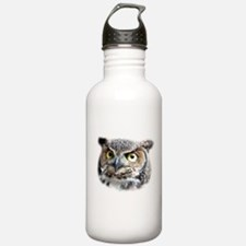 Great Horned Owl Face Sports Water Bottle
