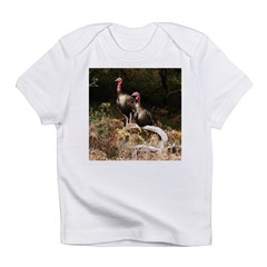 Two Turkeys on a Log Infant T-Shirt