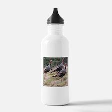 Three Tom Turkey Gobblers Water Bottle