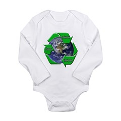Reduce Reuse Recycle Earth Long Sleeve Infant Body