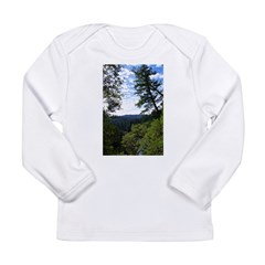 Eel River from the cliff Long Sleeve Infant T-Shir