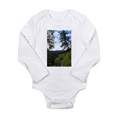 Eel River from the cliff Long Sleeve Infant Bodysu