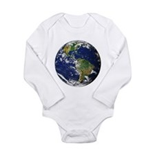 Planet Earth Long Sleeve Infant Bodysuit
