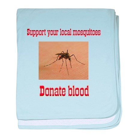 Donate Blood Mosquito baby blanket