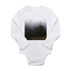 Misty Trees Long Sleeve Infant Bodysuit
