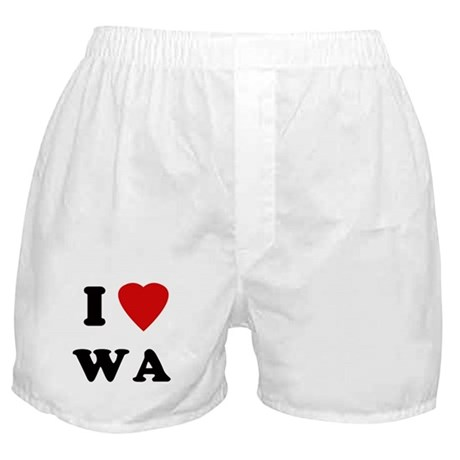 I Love WA Boxer Shorts