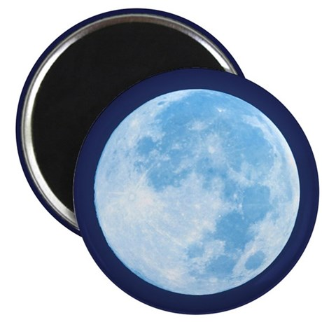 "Blue Full Moon 2.25"" Magnet (10 pack)"