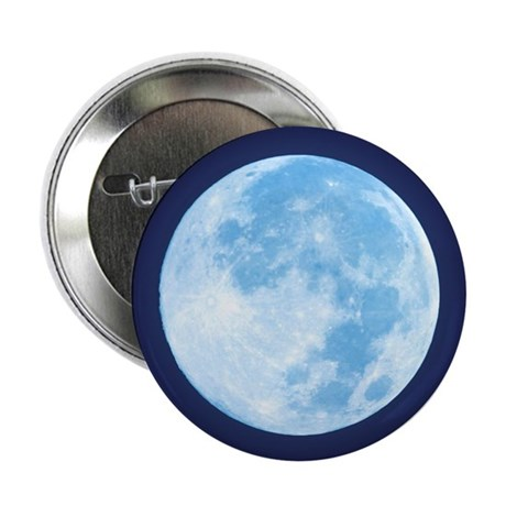 "Blue Full Moon 2.25"" Button (10 pack)"
