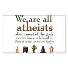 We're All Atheists Stickers