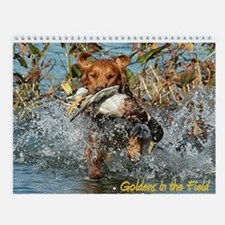Goldens in the Field Wall Calendar