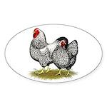 Wyandotte Silver Pair Sticker (Oval 50 pk)
