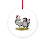 Wyandotte Silver Pair Ornament (Round)
