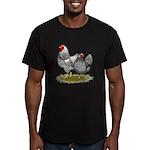 Wyandotte Silver Pair Men's Fitted T-Shirt (dark)