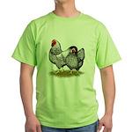Wyandotte Silver Pair Green T-Shirt