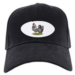Wyandotte Silver Pair Black Cap