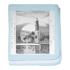 Loggerhead Key Lighthouse baby blanket