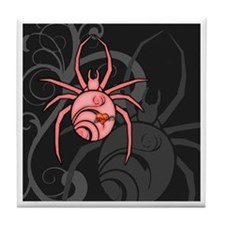 Pink Widow Spider Tile Coaster