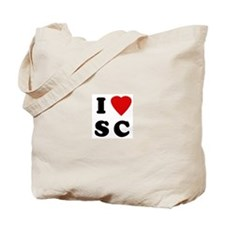 I Love SC Tote Bag