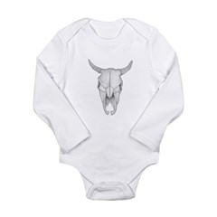 Buffalo Skull Long Sleeve Infant Bodysuit