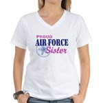 Proud Air Force Sister Women's V-Neck T-Shirt