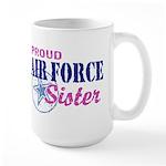 Proud Air Force Sister Large Mug