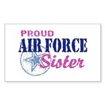 Proud Air Force Sister Sticker (Rectangle)