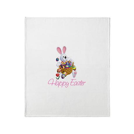 Happy Easter Bunny Throw Blanket