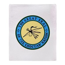 Great Seal of the Choctaw Throw Blanket