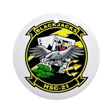 HSC-21 Blackjacks Ornament (Round)
